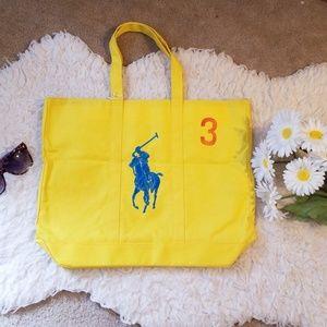 Ralph Lauren Yellow Pony Collection Tote